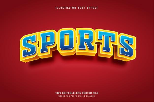 Efeito de texto de ilustração de esportes