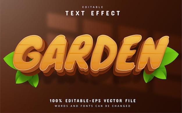 Efeito de texto de jardim editável