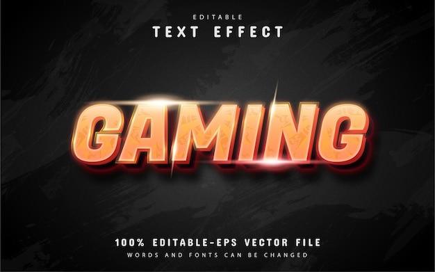 Efeito de texto de jogo com gradiente laranja