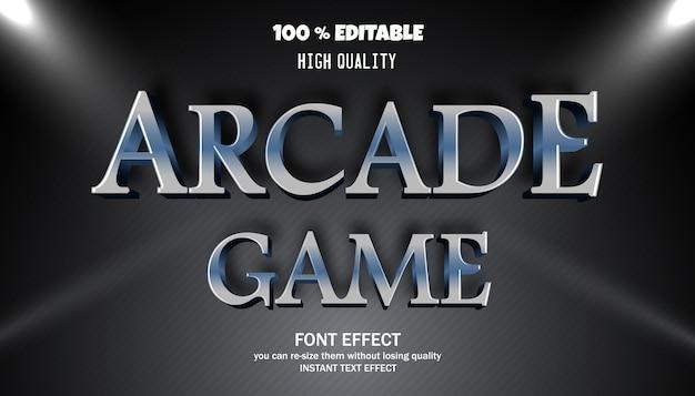 Efeito de texto de jogo de arcade Vetor Premium