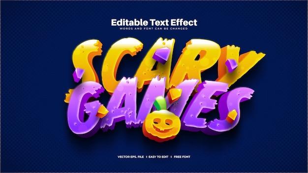 Efeito de texto de jogos assustadores
