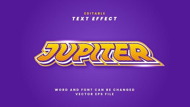 Efeito de texto de júpiter