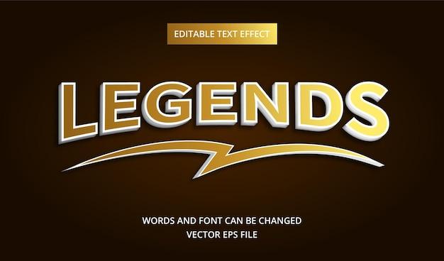Efeito de texto de legendas