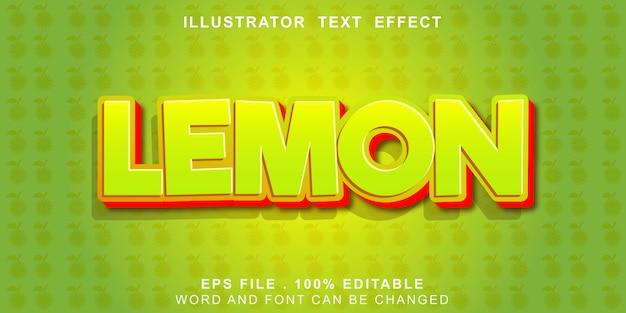 Efeito de texto de limão editável