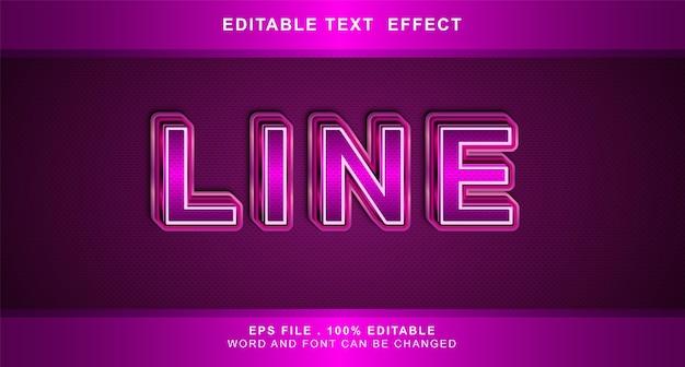 Efeito de texto de linha editável