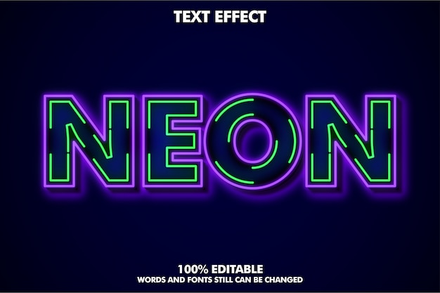 Efeito de texto de linha neon