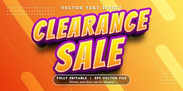 Efeito de texto de liquidação livre com estilo de texto editável