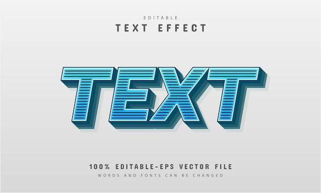 Efeito de texto de listras editável
