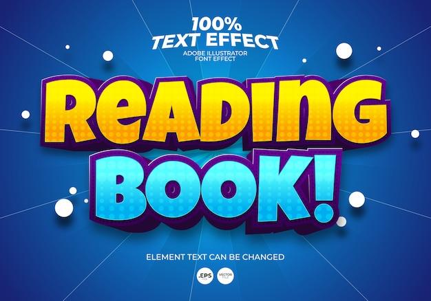 Efeito de texto de livro de leitura