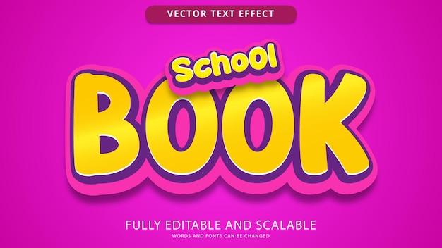 Efeito de texto de livro escolar editável