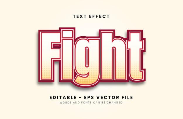 Efeito de texto de luta editável