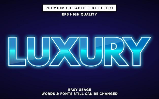 Efeito de texto de luxo azul