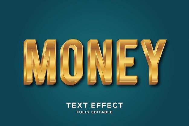 Efeito de texto de luxo moderno em ouro