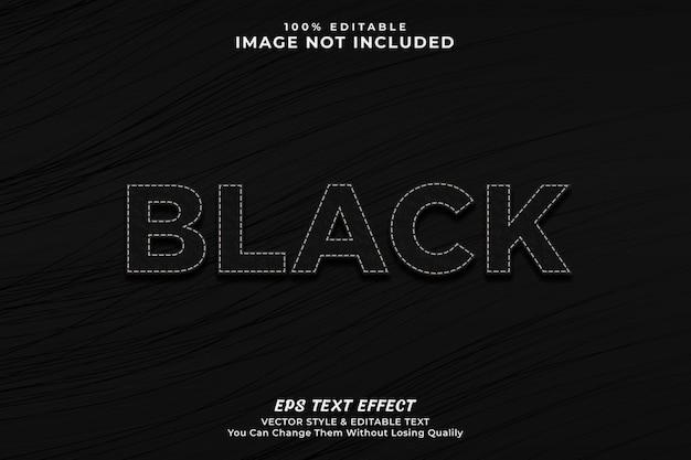 Efeito de texto de luxo preto