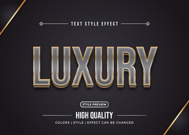 Efeito de texto de luxo