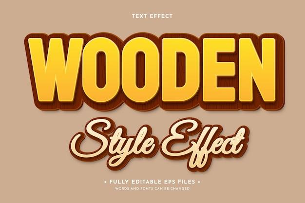 Efeito de texto de madeira