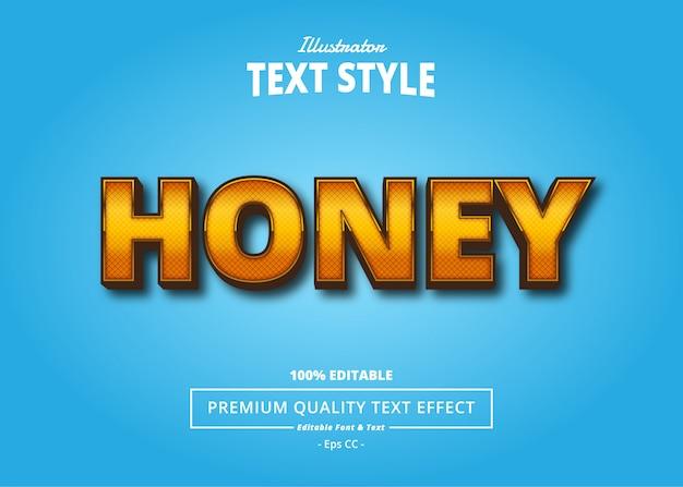 Efeito de texto de mel