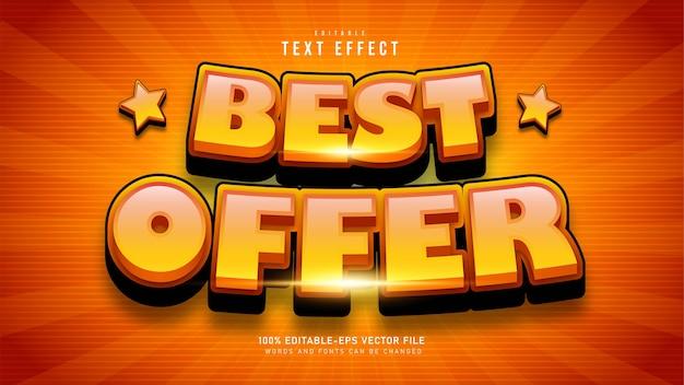 Efeito de texto de melhor oferta