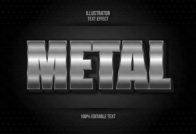 Efeito de texto de metal no fundo preto