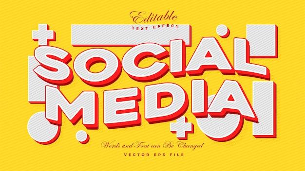 Efeito de texto de mídia social - efeito de texto de maquete editável
