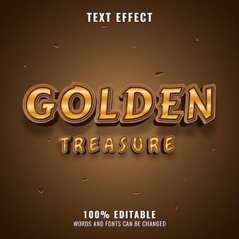 Efeito de texto de mistério de tesouro dourado