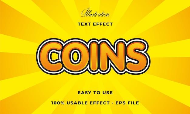 Efeito de texto de moeda