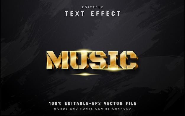 Efeito de texto de música dourada