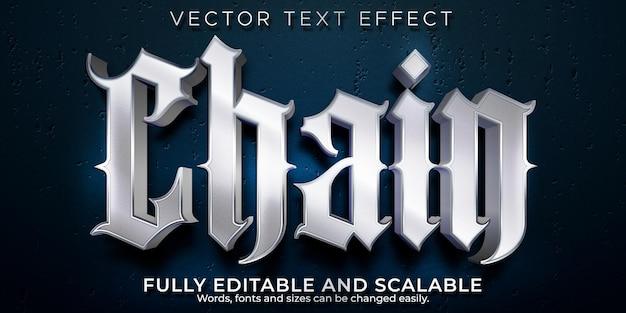 Efeito de texto de música rap em cadeia, estilo de texto editável de máfia e gangue