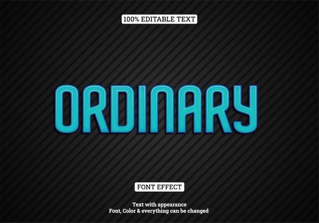 Efeito de texto de néon azul com fundo escuro