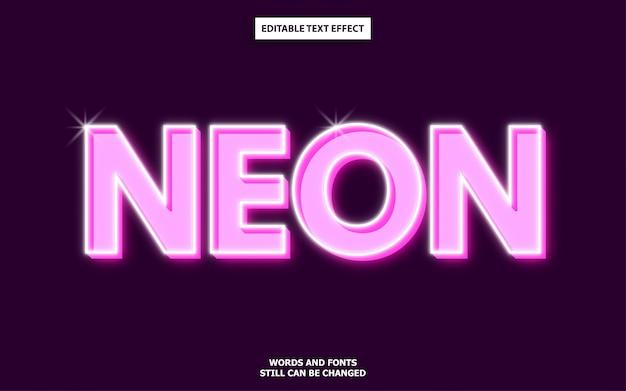 Efeito de texto de néon rosa