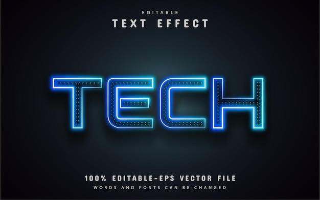 Efeito de texto de néon tecnológico