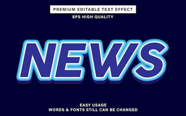 Efeito de texto de notícias