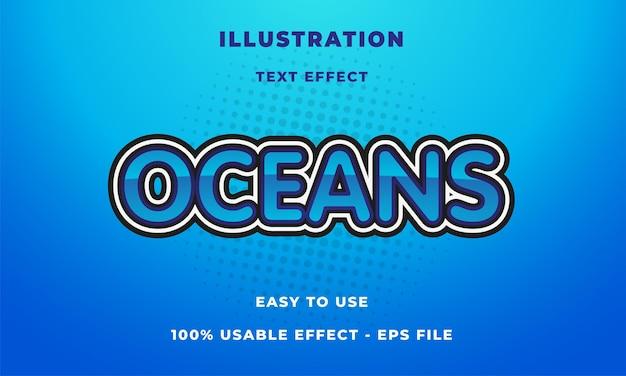 Efeito de texto de oceanos