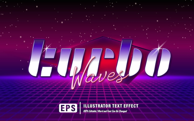 Efeito de texto de ondas turbo - editável