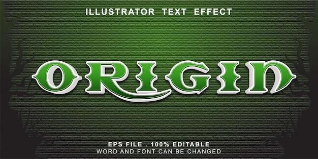 Efeito de texto de origem editável
