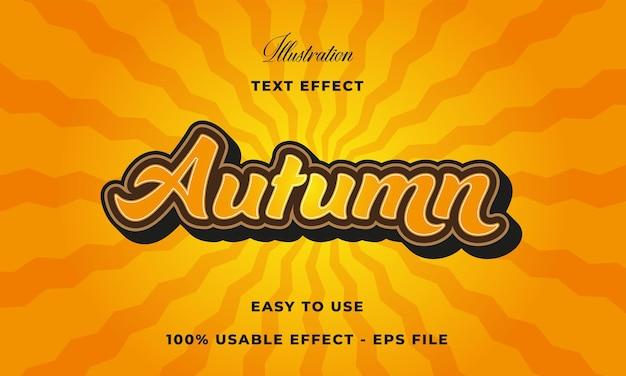Efeito de texto de outono