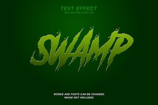 Efeito de texto de pântano verde