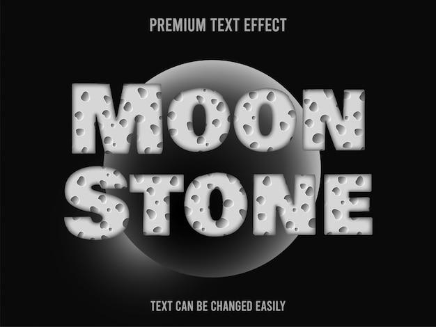 Efeito de texto de pedra da lua
