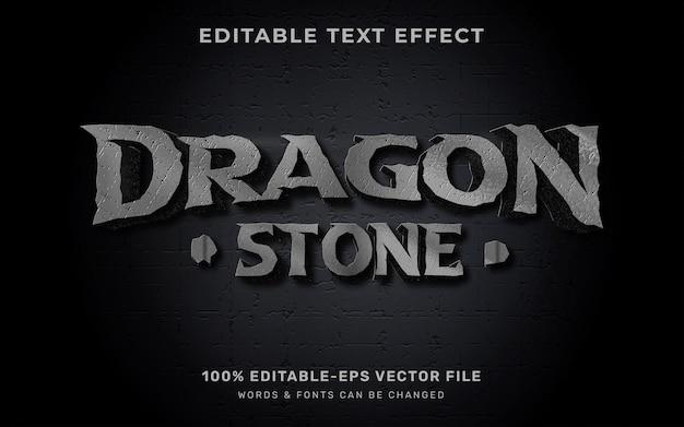 Efeito de texto de pedra do dragão