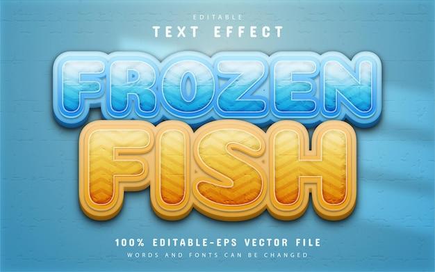 Efeito de texto de peixe congelado editável