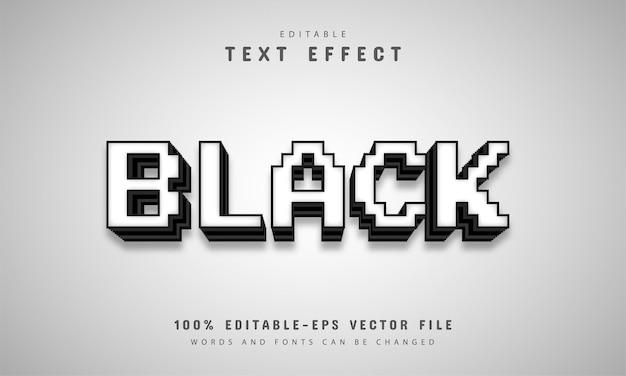 Efeito de texto de pixel preto e branco
