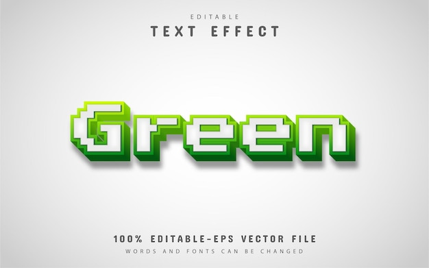 Efeito de texto de pixel verde