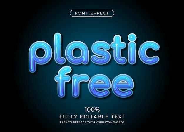 Efeito de texto de plástico. estilo de fonte