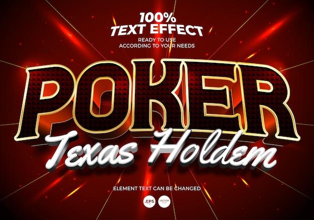 Efeito de texto de pôquer texas hold'em