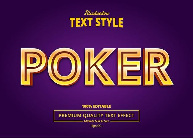 Efeito de texto de pôquer
