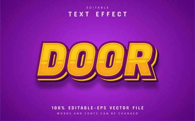 Efeito de texto de porta editável