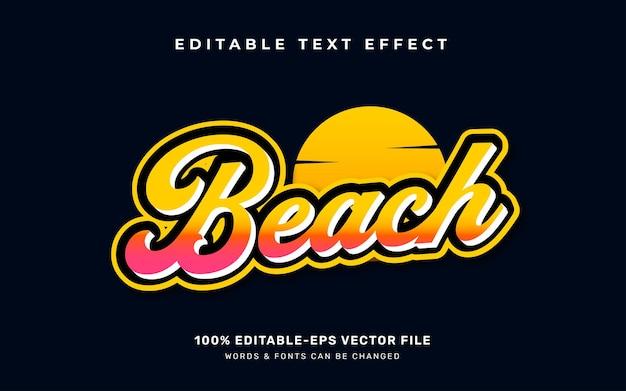 Efeito de texto de praia