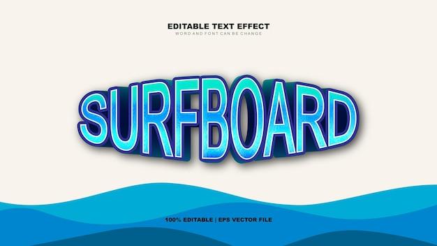 Efeito de texto de prancha de surf