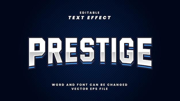 Efeito de texto de prestígio