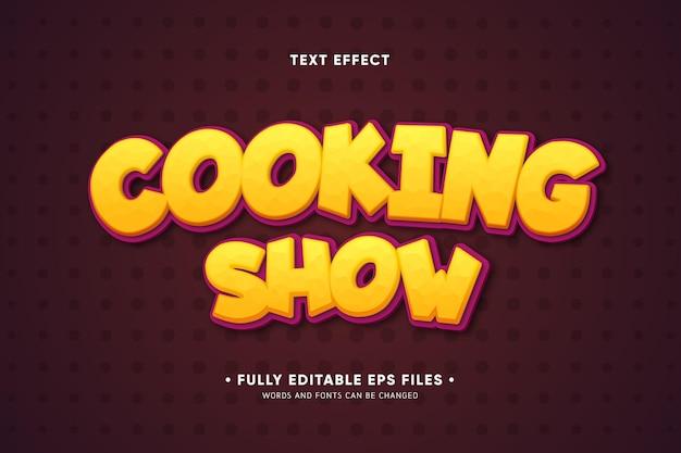 Efeito de texto de programa de culinária